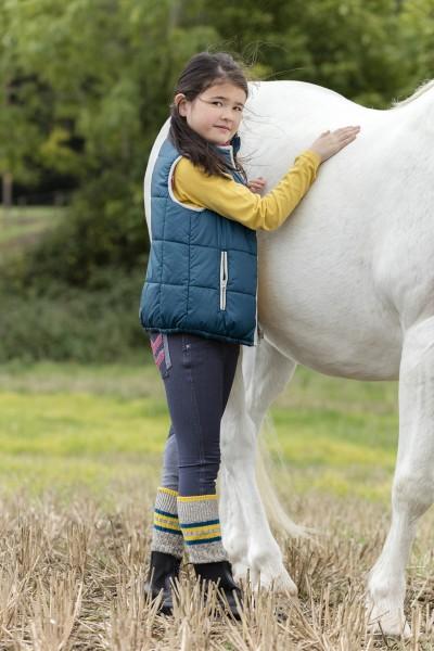 Horseware wendbare Kinder-Winterreitweste himbeer oder teal