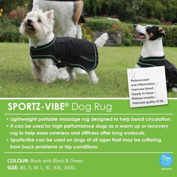 Horseware Sportz Vibe Dog Rug - Massagedecke für Hunde