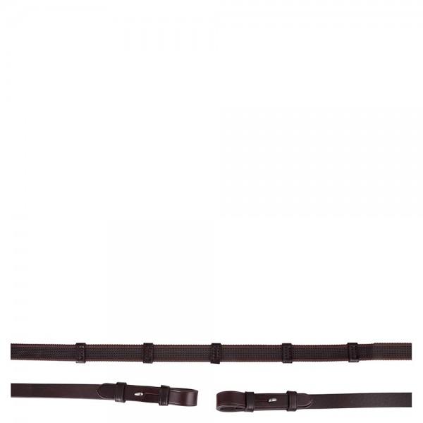 BR Leinenzügel mit blinden Schnallen braun 19 mm