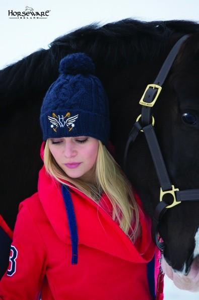 Pudelmütze Horseware - Knitted Bobble Hat