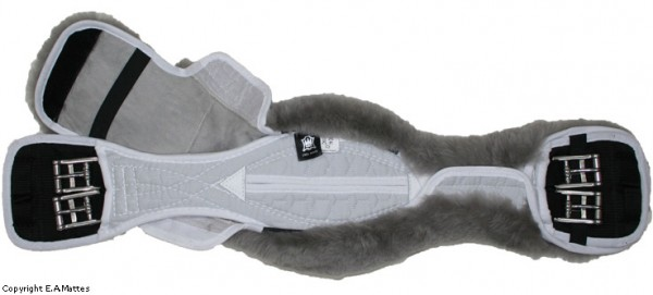 anatomischer Kurzgurt mit abnehmbarem Lammfell Gr. 65 grau