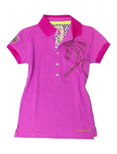Flamboro Polo Shirt mit Pferdekopf aus Silbernieten - Limited Edition) Bestseller!!