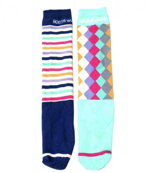 2 Paar Horseware Knee Socks passend zu den Flamboro-Shirts