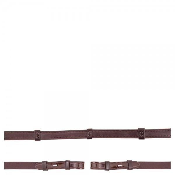 Anti-Slip Zügel aus Lackleder 16 mm
