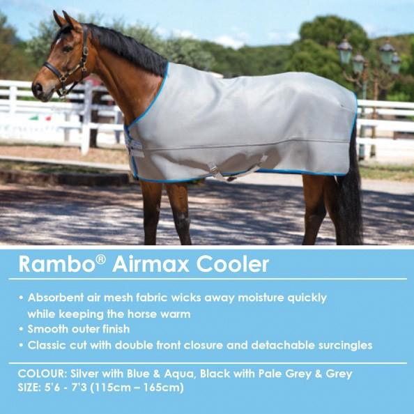 Rambo Airmax Cooler - maximale Ventilation, Stall-/Transport- oder Turnierdecke 140 cm