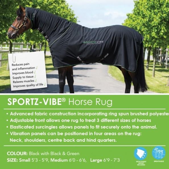 Horseware SPORTZ VIBE Horse Rug Massage Therapy Massagedecke