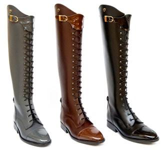Lace Up Boots, geschnürte Lederreitstiefel